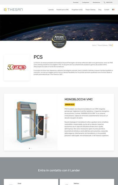 progetto thesan - pagina aircare lander