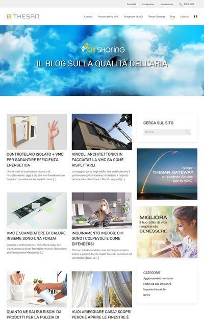 progetto thesan - pagina blog