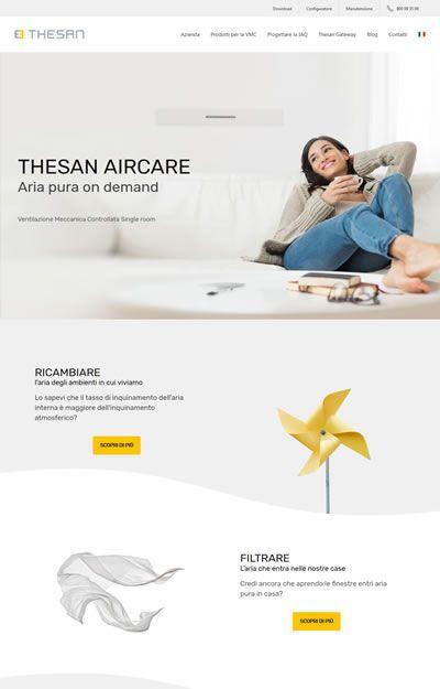 progetto thesan - pagina home