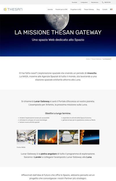 progetto thesan - pagina mission