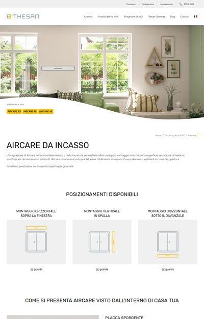progetto thesan - pagina prodotto