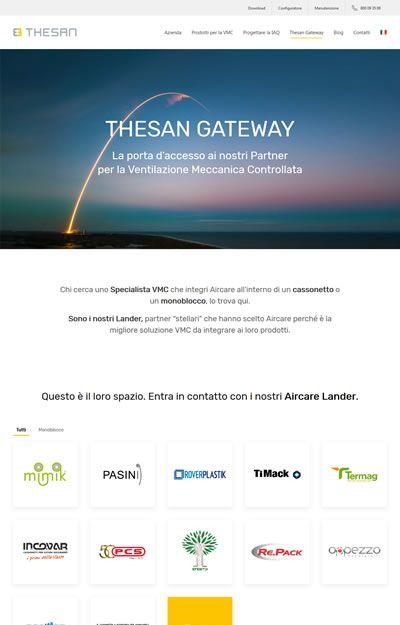 progetto thesan - pagina thesan gateway