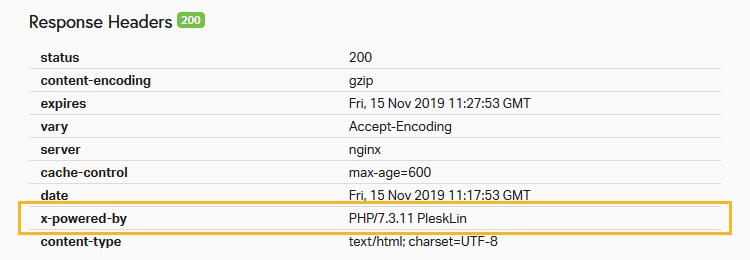 verificare versione php con pingdom