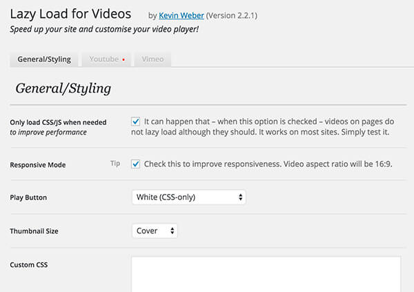 lazy load video wordpress plugin