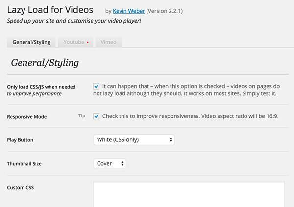 lazy load video wordpress plugin