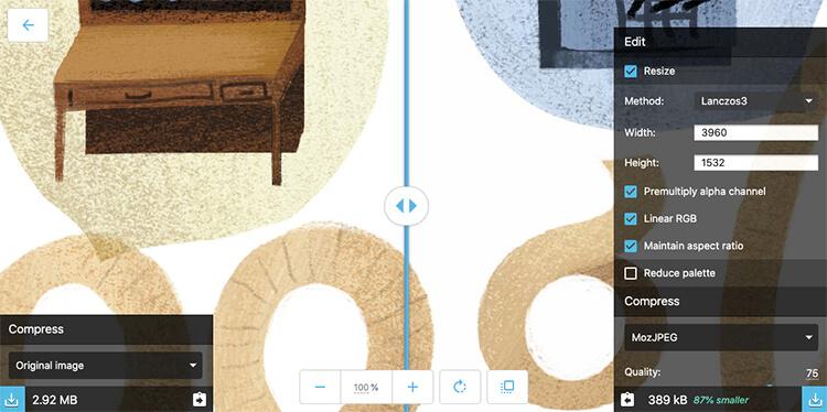 compressione immagini con squoosh