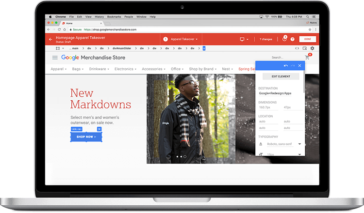 editor google optimize