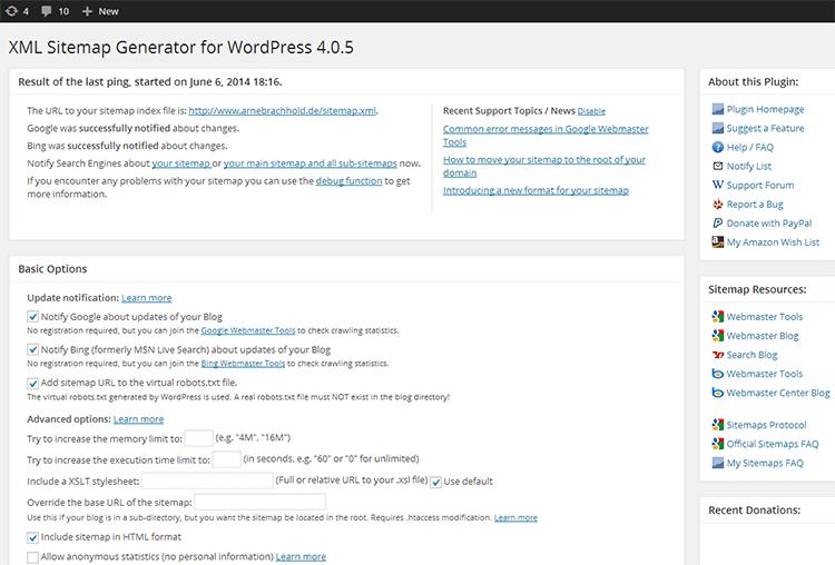 plugin sitemap per wordpress