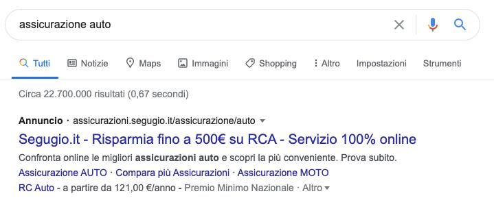 annuncio google ads e seo