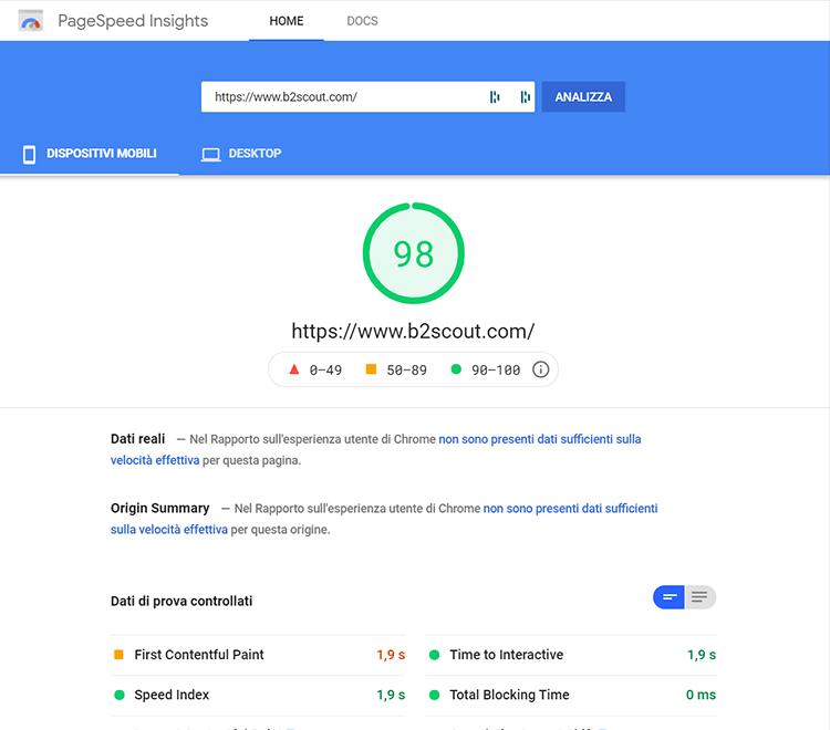 velocizzare sito web pagespeed insights