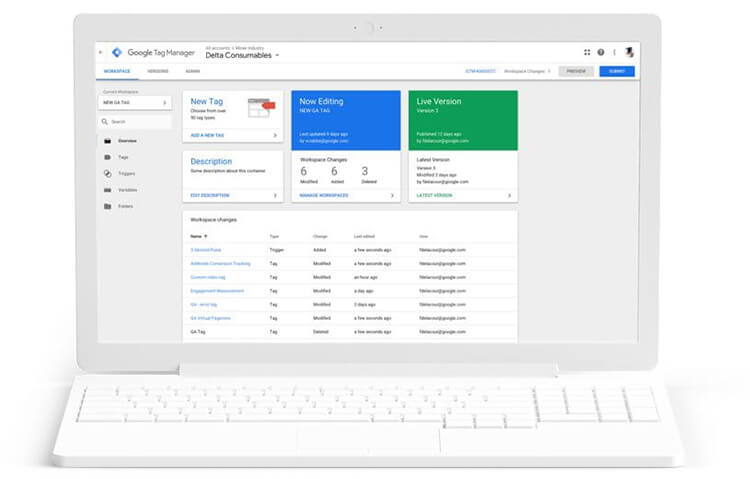 gestione tag manager